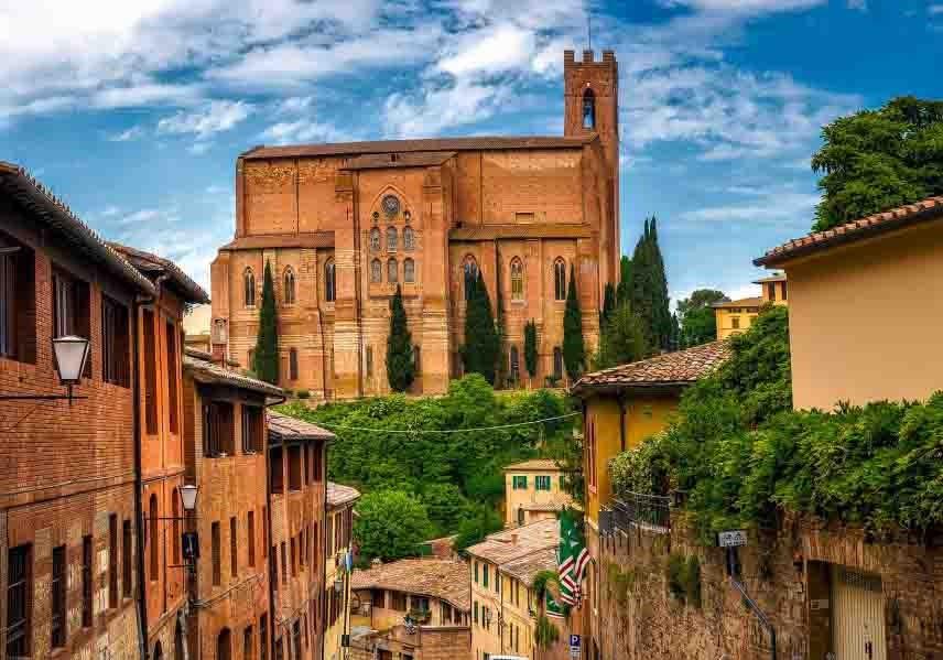 Siena farmhouses. Tuscany